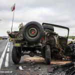 jeep, wypadek, rekonstruktor, opole, ratownictwo, kluczbork, www.polnocna.tv, www.strefahistorii.pl