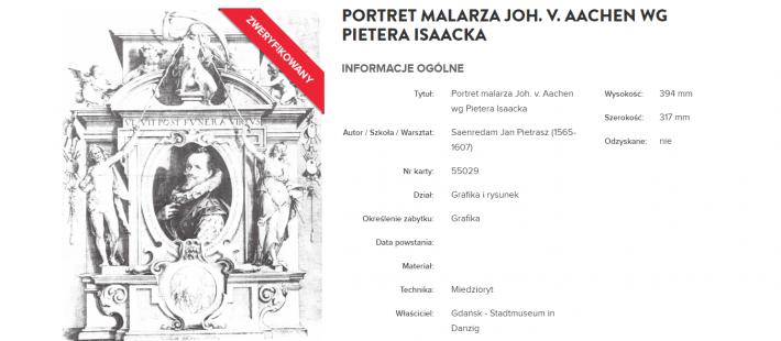 Portret malarza Johanna von Aachen,  Johann Saenredamm, Jarosław Sellin, Muzeum Narodowe w Gdańsku, www.polnocna.tv, www.strefahistorii.pl, północna, strefahistorii, bartosz gondek, news, wiadomości