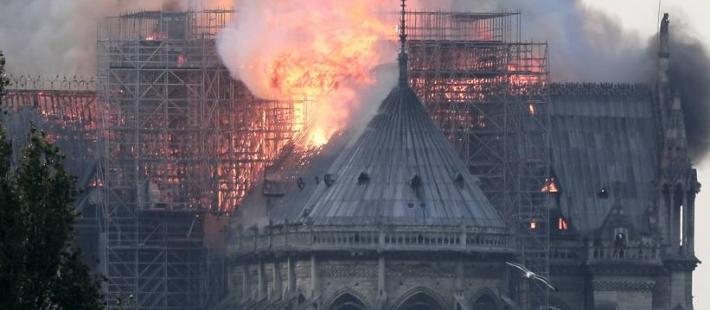 Notre Dame, Paryż, pożar, www.polnocna.tv, www.strefahistorii.pl