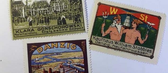 Biblioteka Gdańska  PAN, Cindirella Stamps, znaczki, www.polnocna.tv, www.strefahistorii.pl