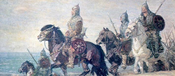 Chrobry idzie na Kijów mal. M. Bylina