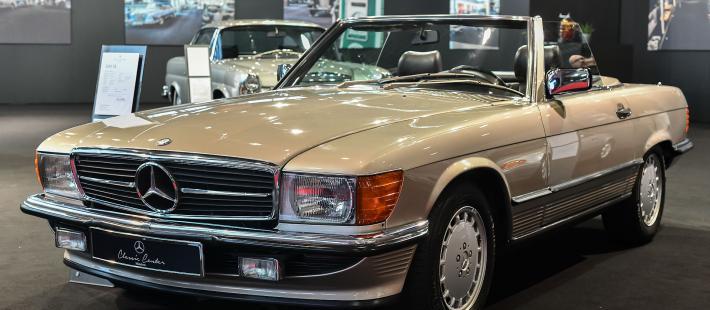Mercedes, W107, SL, www.polnocna.tv, www.strefahistorii.pl